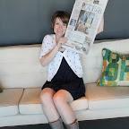 Amanda with her Statesman article!