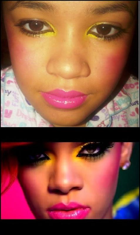 rihanna inspire makeup