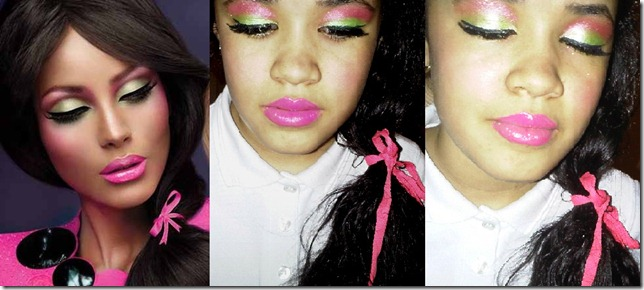 barbie inspired makeup look
