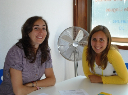 A student and her Portuguese teacher