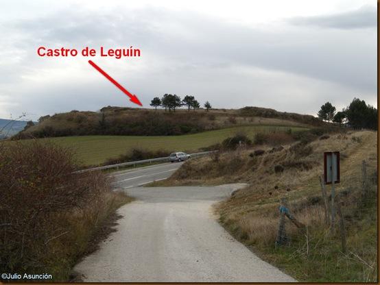 Vista del castro de Leguín
