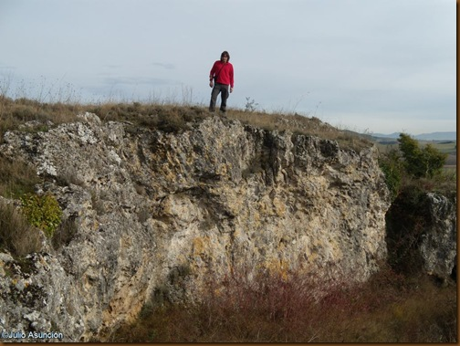 Muralla rupestre tallada en la roca