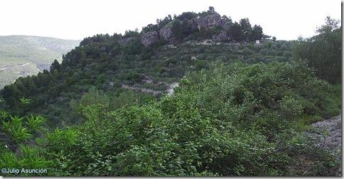 Espolón donde está situado el poblado prehistórico