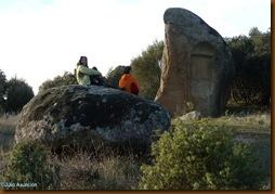 Piedra del verraco vista desde atrás
