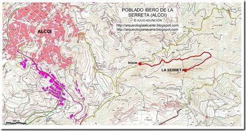 Mapa la Serreta