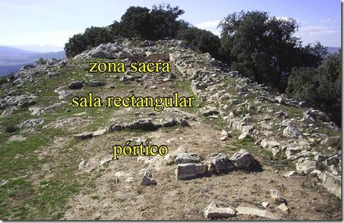 Distribución del santuario ibero romano