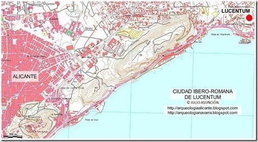 Mapa Lucentum
