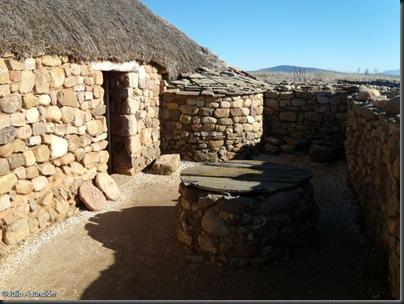 06 Casa romana - patio con pozo y horno - Numancia