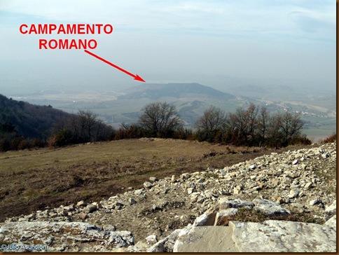 Campamento romano del monte Santa Cruz - Ruta castillo Irulegi