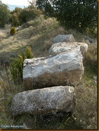 Grandes piedras en flanco sur de muralla - castro de urri - Ibiricu