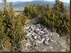 Murallas flanco oeste - castro de Urri - Ibiricu
