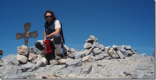 En la cima del Bisaurin