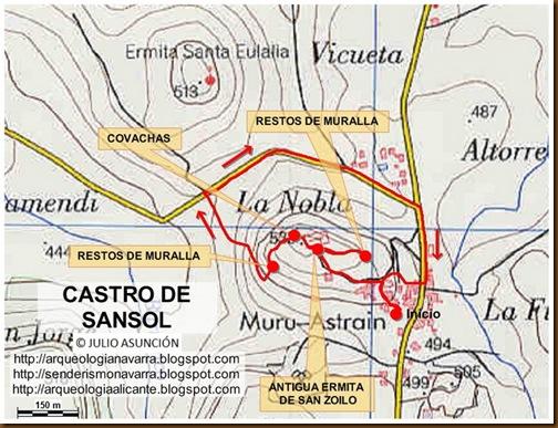 Mapa castro de Sansol - Muru-Astrain