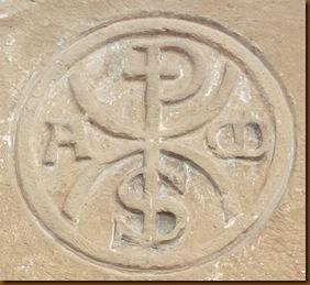 Crismón - iglesia de Ubani