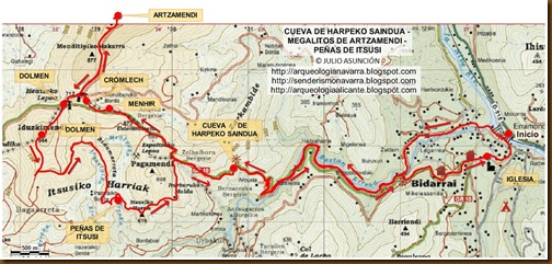 Mapa Harpeko Saindua