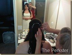 Kristin hair finishing touches