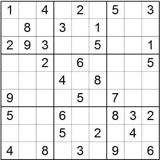 hacer sudoku nivel facil: