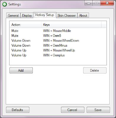 3RVX Volume Control Settings