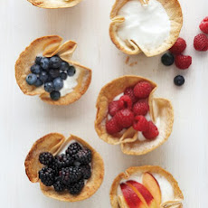 Tortilla Cups with Yogurt and Fresh Fruit