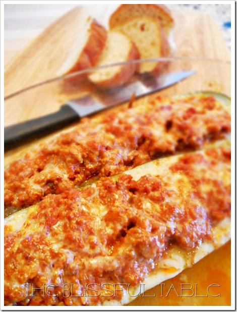 Stuffed Zucchini Boat 015a