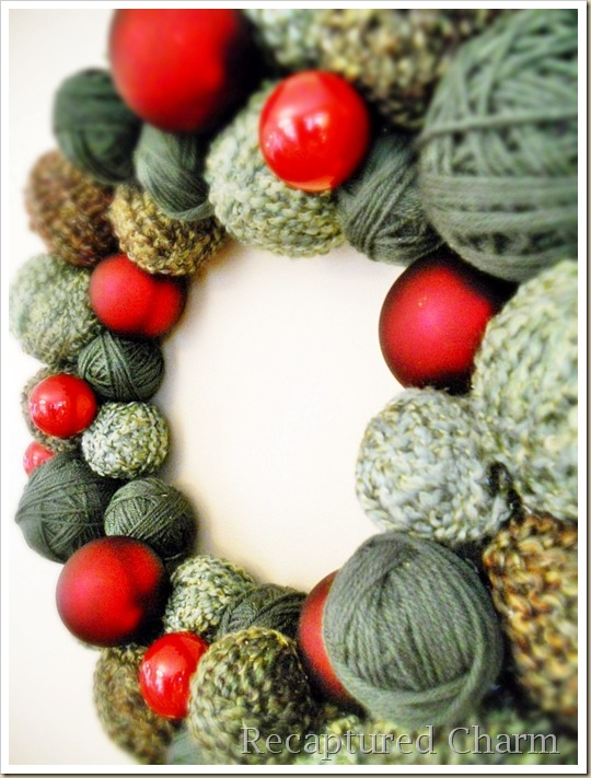yarn christmas wreath 035b