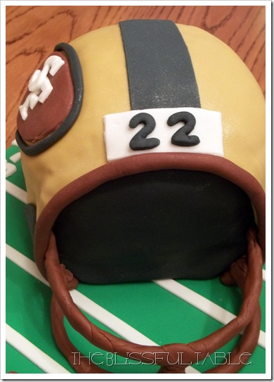 Football helmet cake 2a