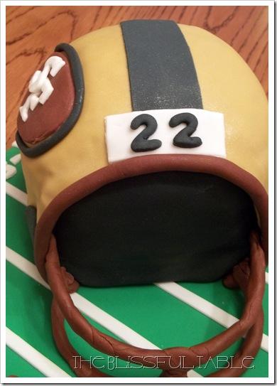 Football helmet cake 2a