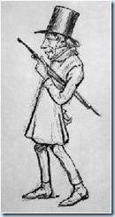 Caricatura de Kierkegaard