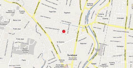 restaurant Bumbu Desa Surabaya Map[eatz.me]
