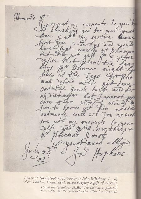 John Hopkins Letter