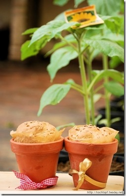 Buttermilk Sunflower Seeds Bread in Pots