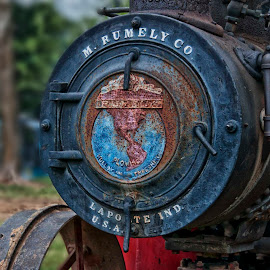 Steam Engine by Jackie Stoner - Transportation Other ( indiana, steam engine, vintage, farm equipment, antique, rumely co )