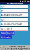 Screenshot of GPS Coordinates Converter