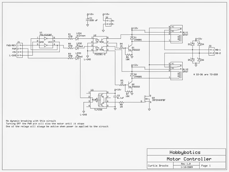 Hobbybotics Motor Controller_6 oa wiring diagram series and parallel circuits diagrams \u2022 wiring  at fashall.co