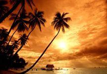 güneş batımı manzara resmi