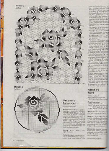 rose and oval crochet for tablecloths
