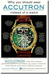 Propaganda de lançamento do Bulova Accutron