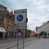 Na Kapucínskej nie je do pešej zóny povolený vjazd cyklistom. Pritom do tej istej pešej zóny z iných strán povolený vjazd je.