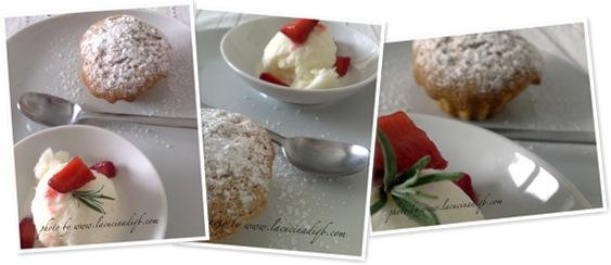 Visualizza Tortino di fragole speziate e gelato al rosmarino
