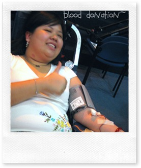 Elsa's 1st blood donation