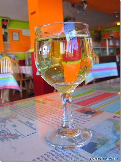 My beautiful glass of white