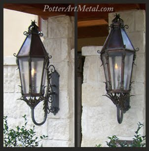 French Style Gas Lantern