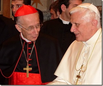 Card. Ruini con Benedicto XVI