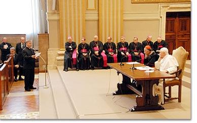 Encuentro con sacerdotes de Roma