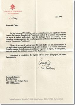 Carta de Ecclesia Dei