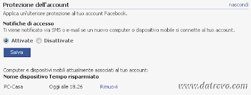 Facebook account privacy