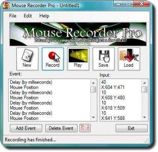 Registrare e rieseguire le azioni fatte con il mouse e la tastiera