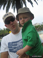 Ben and Andrew at Southbank Parklands Brisbane.