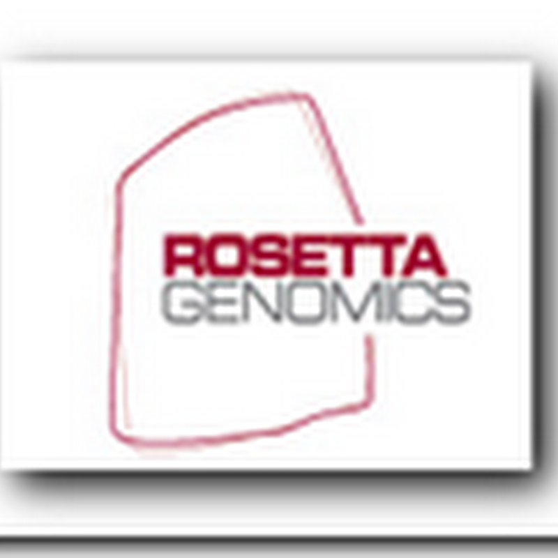 Rosetta Genomics Publishes Data on Lung Cancer Test – Journal of Clinical Oncology