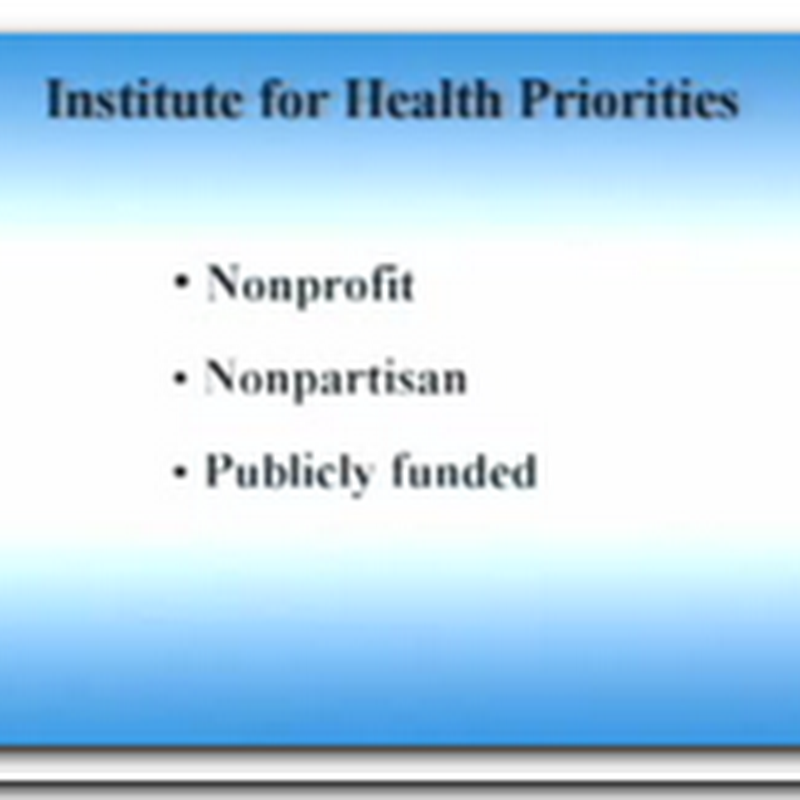 Institute for Health Priorities – A Game Plan for Life from the Milken Institution
